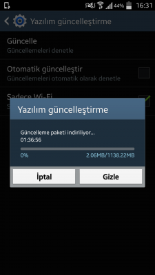 Samsung galaxy s4 android 5.0 guncelleme