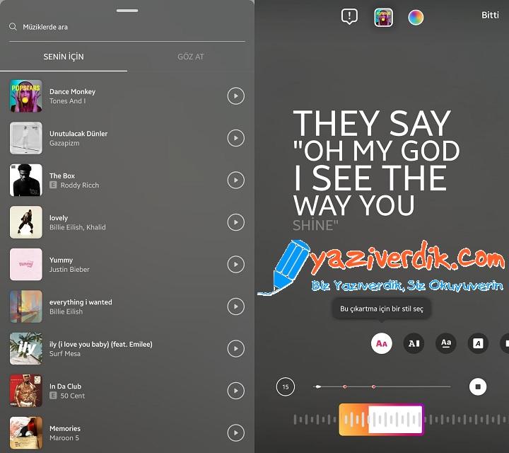 instagram hikayeye müzik ekleme nasıl yapılır 2